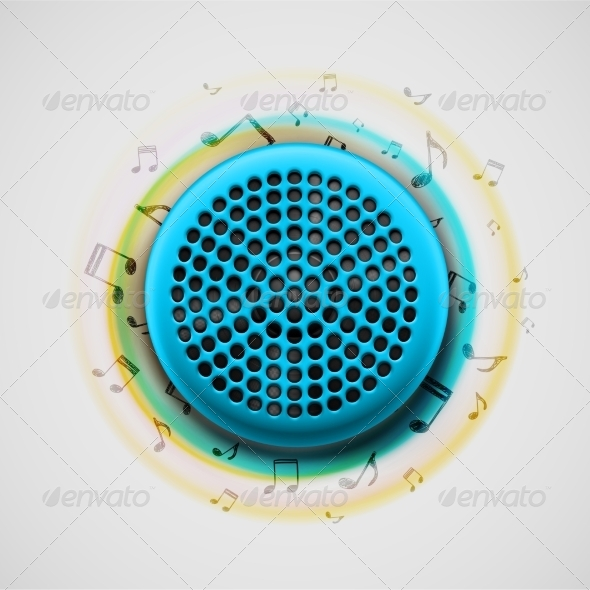 GraphicRiver Music Speaker 7842459