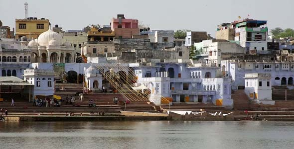 View Of Pushkar Rajasthan India