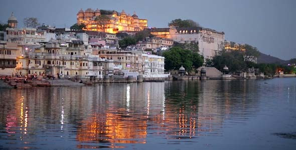 Magnificent View Of Udaipur Rajasthan At Night
