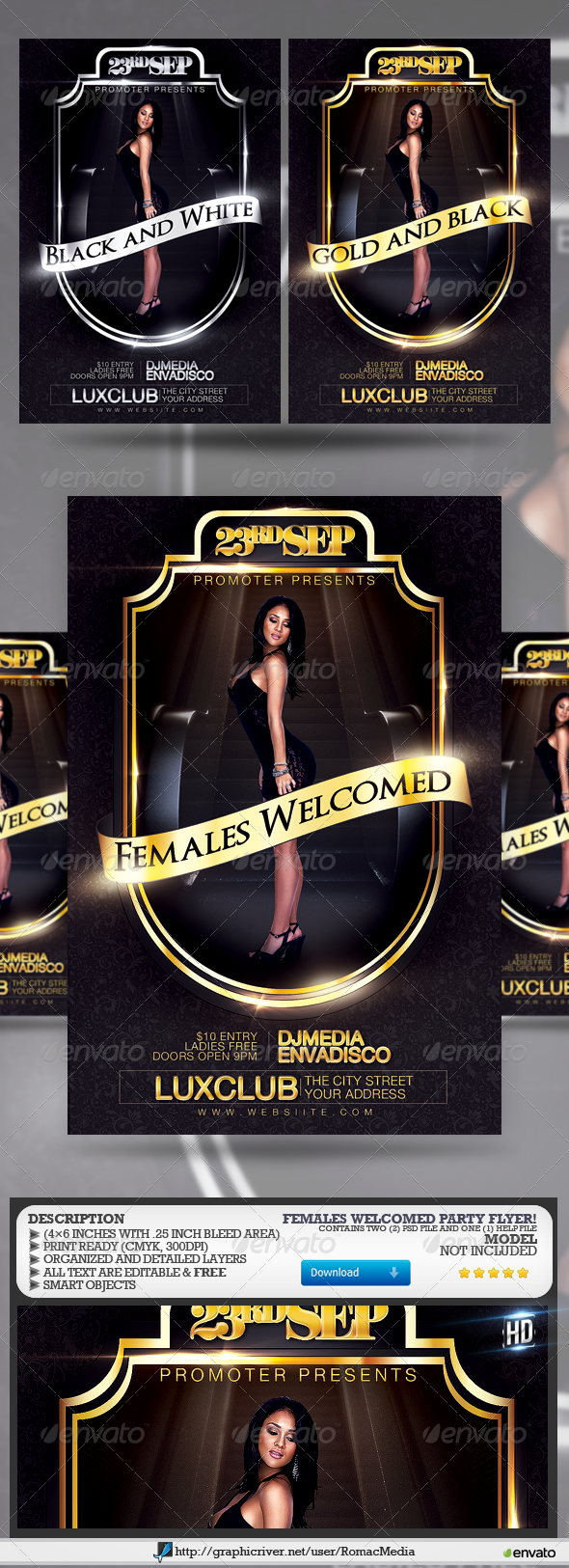 GraphicRiver Females Welcomed Party 7842625