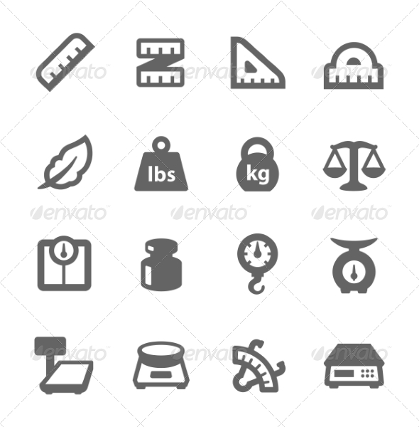 GraphicRiver Scales and Rulers Icons 7842879