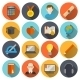 E-learning Icons Flat - GraphicRiver Item for Sale