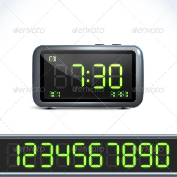 GraphicRiver Digital Alarm clock numbers 7842928