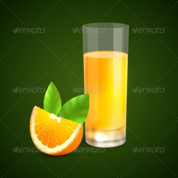 GraphicRiver Orange Juice Background 7842930