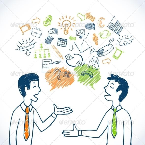 GraphicRiver Doodle Business Conversation 7842940