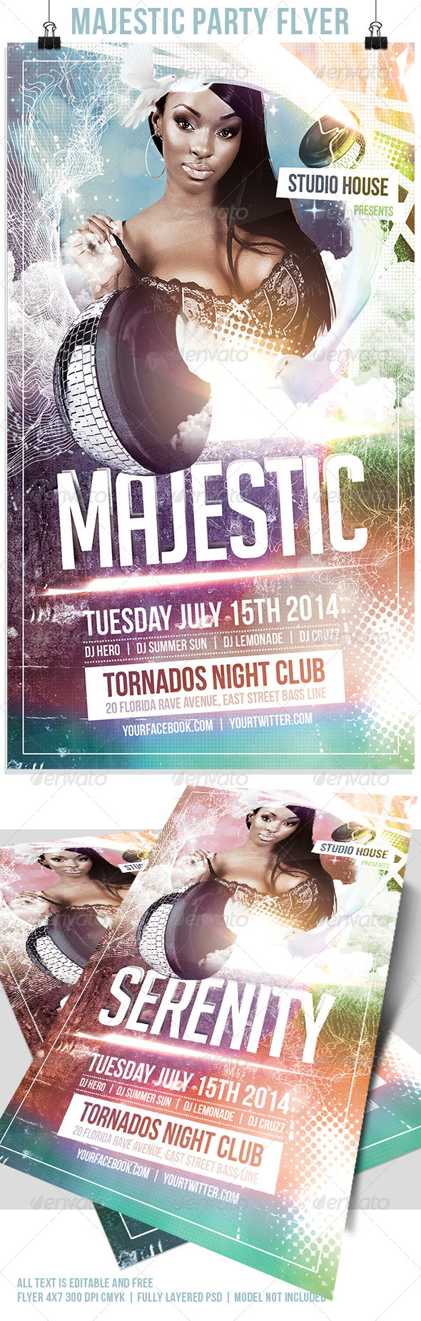 GraphicRiver Majestic Flyer Template 7842970