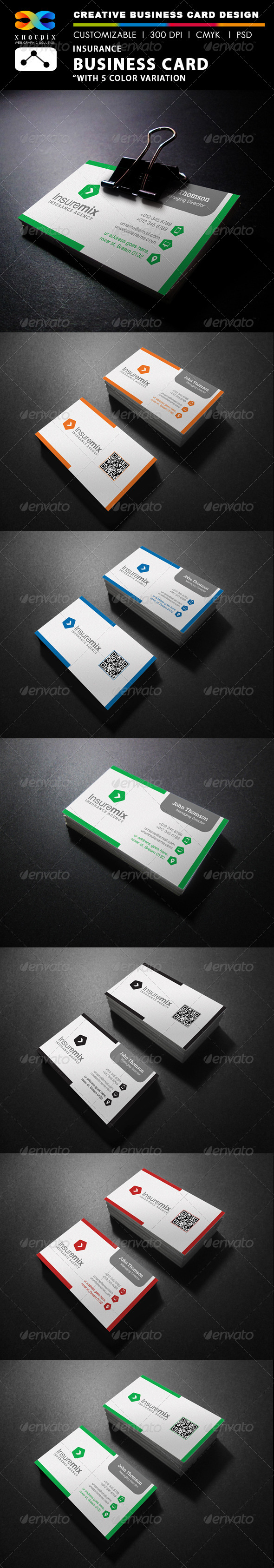 GraphicRiver Insurance Business Card 7842973