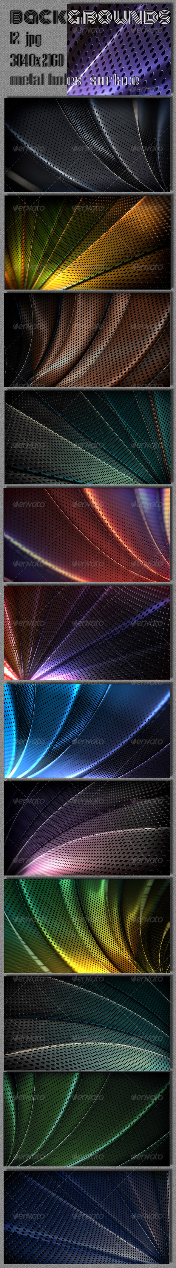 GraphicRiver Metal Holes Surface Backgrounds 7843088
