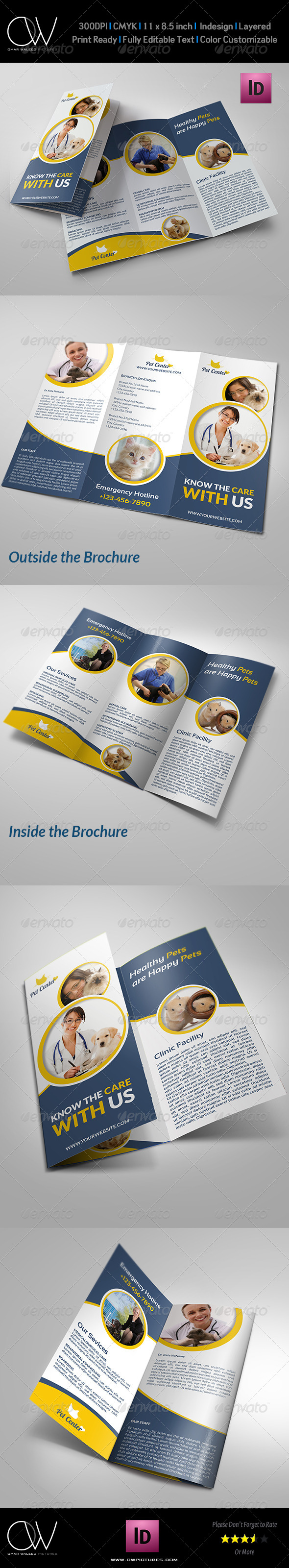 Veterinarian Clinic Brochure Template Vol.2