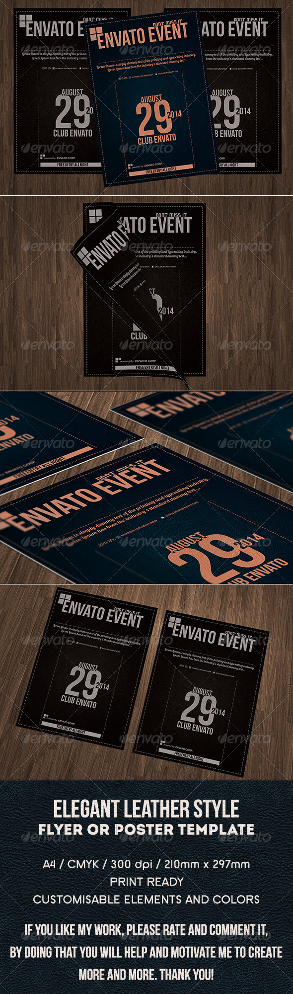 GraphicRiver Elegant Multipurpose a4 Flyer or Poster 7843242