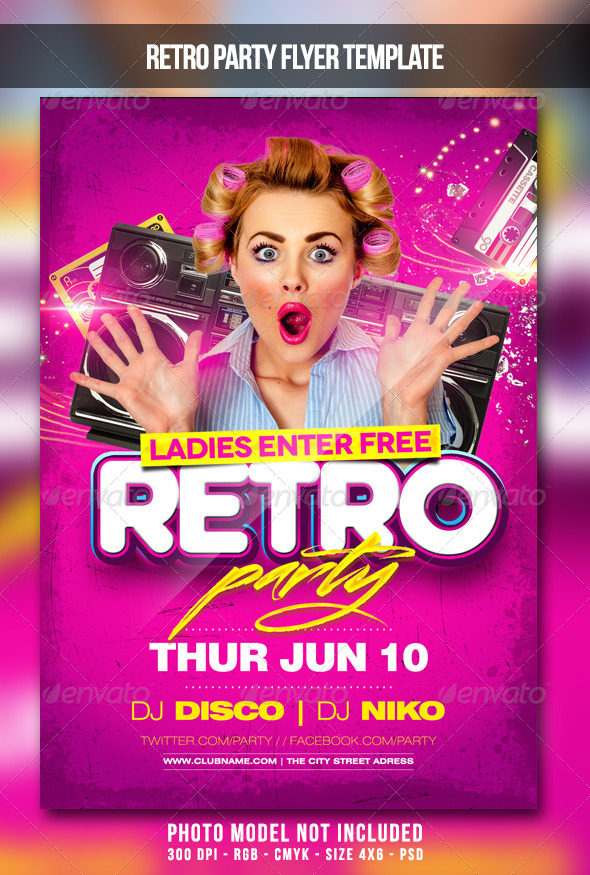GraphicRiver Retro Party Flyer 7843325