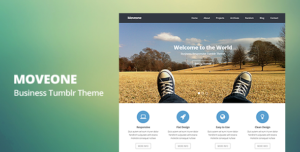 Moveone - Business Responsive Tumblr Theme - Business Tumblr