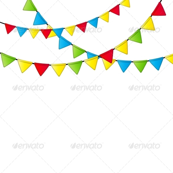 GraphicRiver Party Flags 7843494