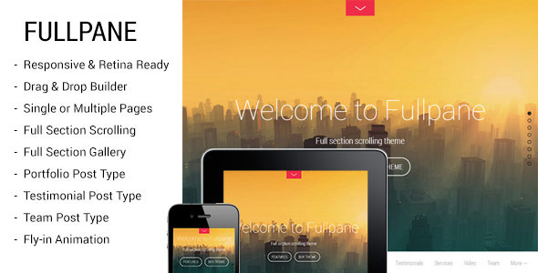 Fullpane - Full Section Scrolling Theme - Creative WordPress