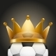 Soccer Ball with Royal Crown