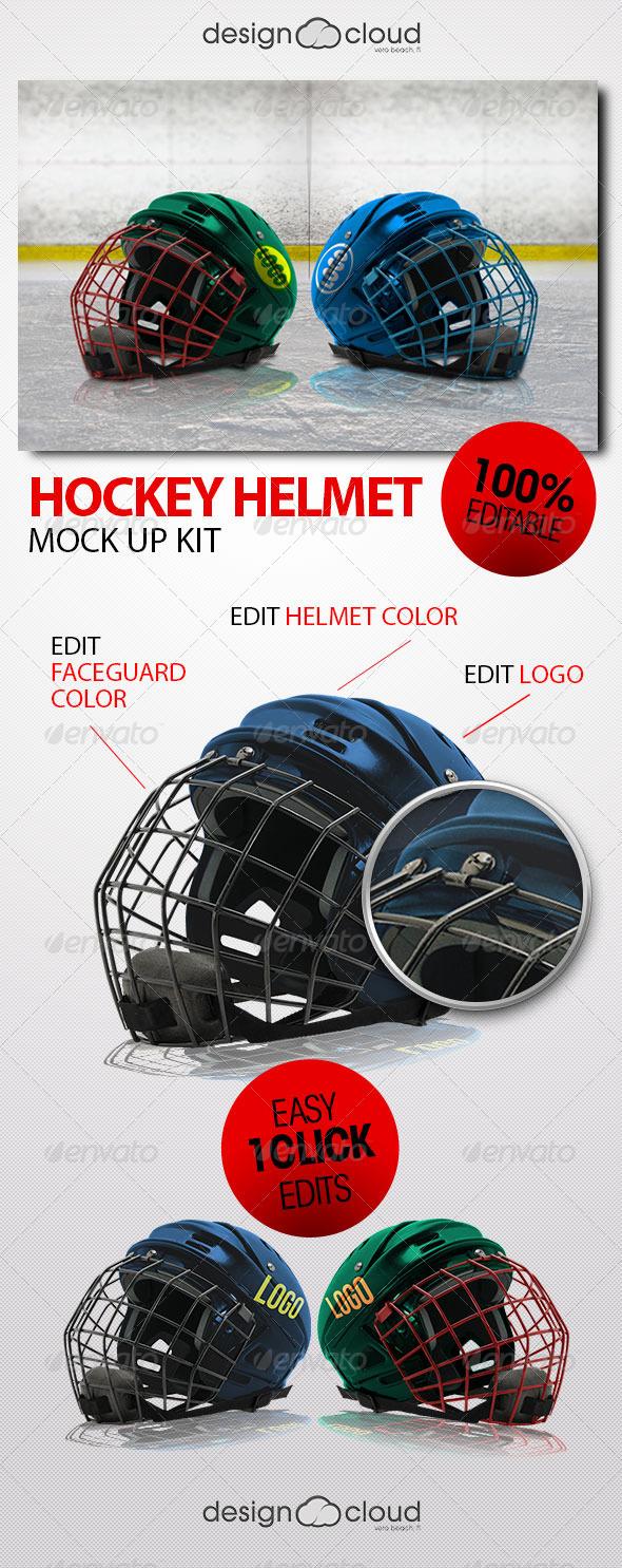 Hockey Helmet Mock Up Kit