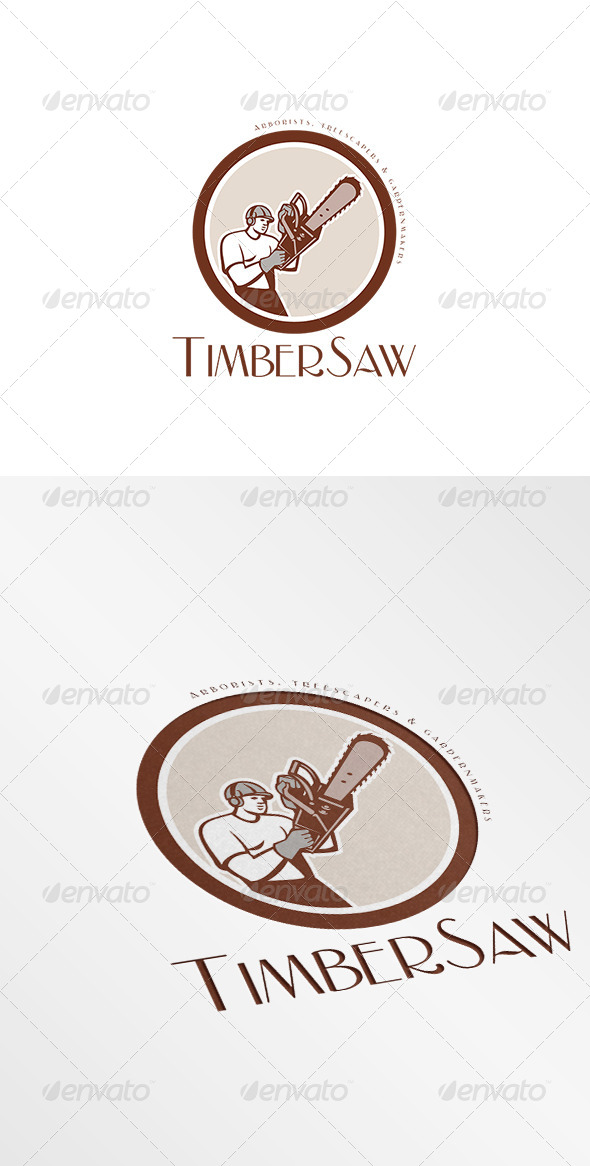 GraphicRiver Timbersaw Arborists and Treescapers Logo 7843739