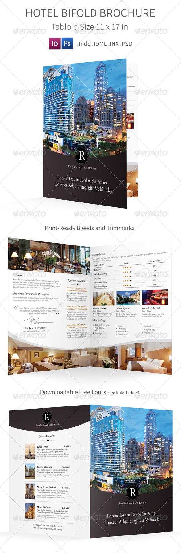 GraphicRiver Hotel Bifold Halffold Brochure 7843783