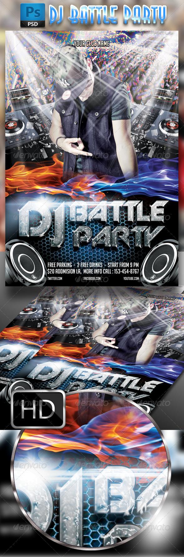 GraphicRiver DJ Battle Party Flyer 7843800