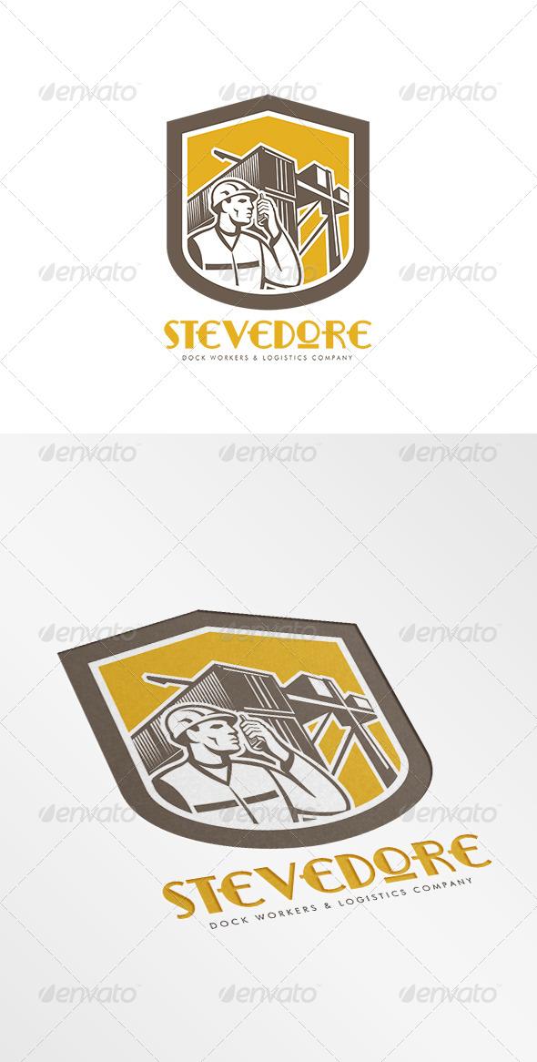 GraphicRiver Stevedore Logistics Company Logo 7843801