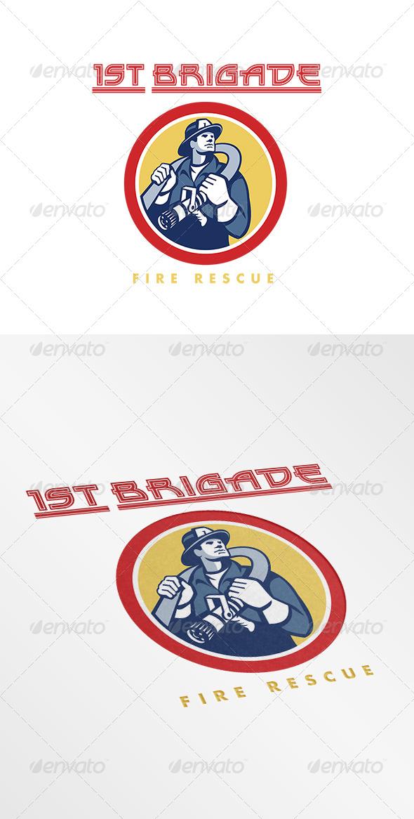 GraphicRiver First Brigade Fire Rescue Logo 7843834