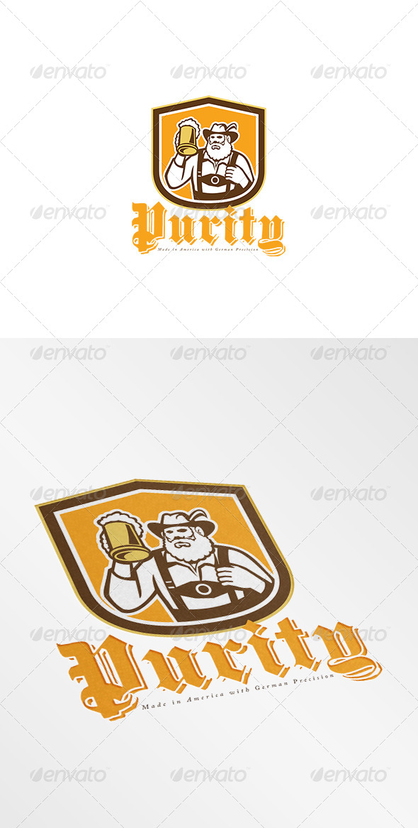 GraphicRiver Purity Made in America German Beer Logo 7843903