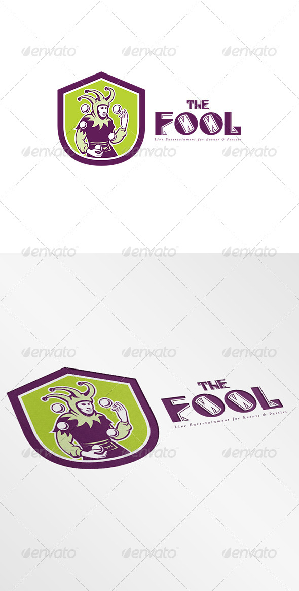 GraphicRiver The Fool Live Entertainment for Events Logo 7843941