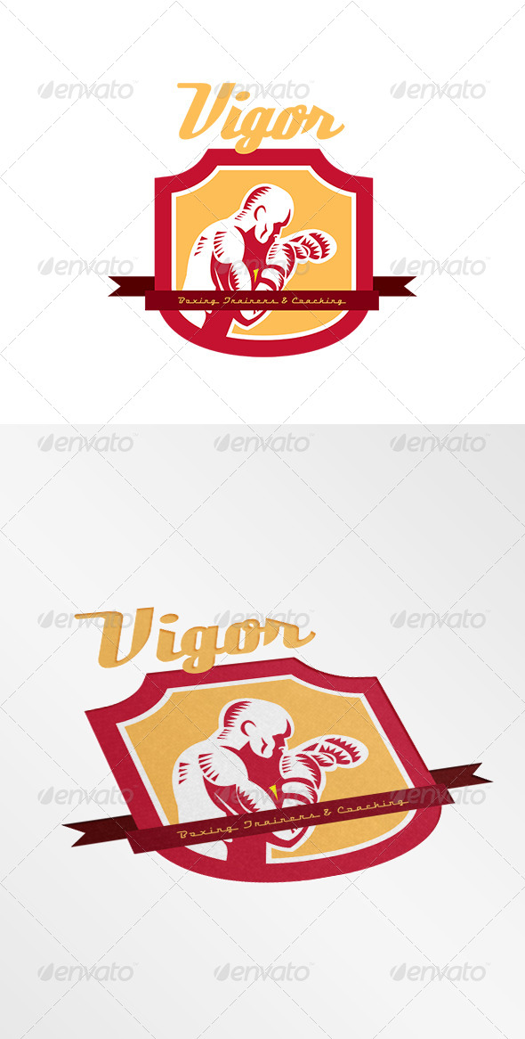GraphicRiver Vigor Boxing Training and Coaching Logo 7843970