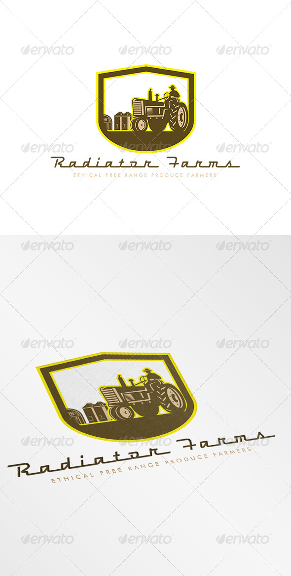 GraphicRiver Radiator Farms Free Range Produce Logo 7843973