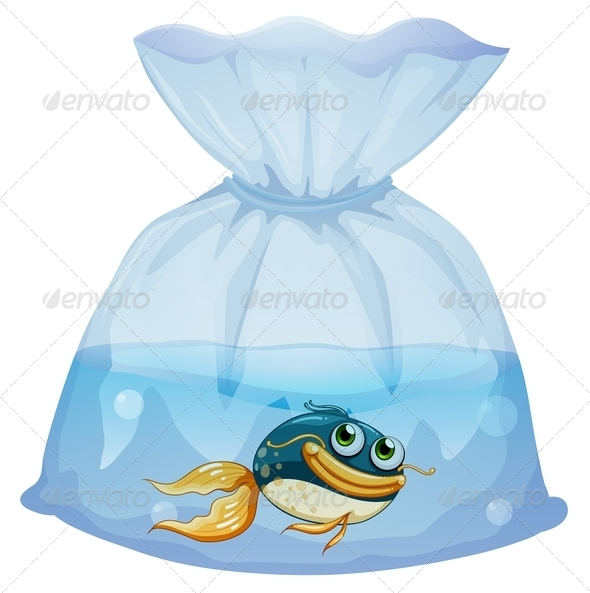 GraphicRiver A Fish Inside a Plastic Pouch 7844143