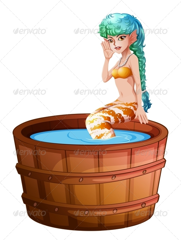 GraphicRiver A big bathtub with a mermaid 7844178