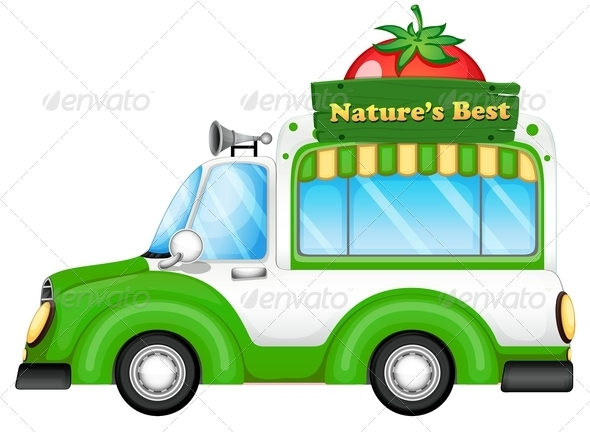 A vehicle with a nature s best signboard