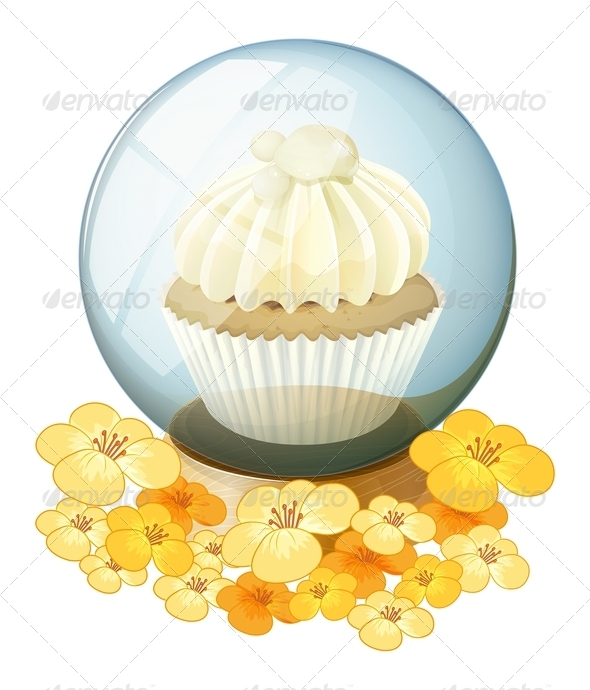 GraphicRiver A crystal ball with a mocha-flavored cupcake insid 7844198
