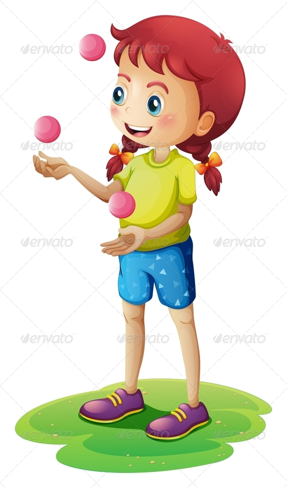 GraphicRiver A young girl juggling 7844236