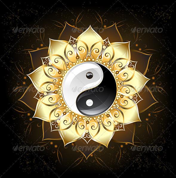 YinYang Yin-Yang Golden Lotus