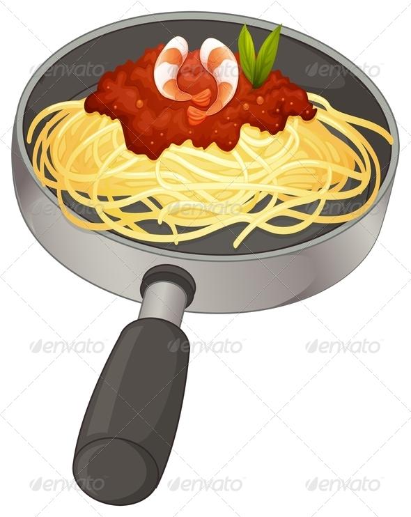 GraphicRiver Spaghetti in a pan 7844260
