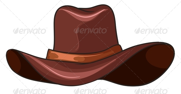 A brown coloured hat