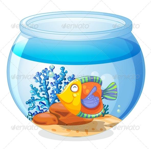 GraphicRiver An aquarium with a fish 7844331