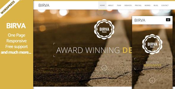 BIRVA3 - Responsive Multipurpose One Page WP Theme - Portfolio Creative