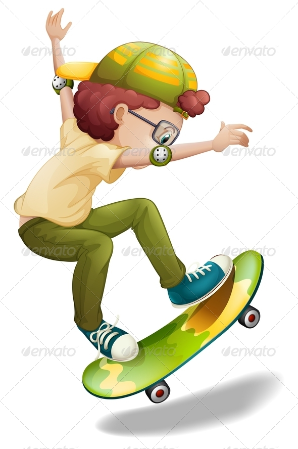 GraphicRiver An energetic boy skating 7844357