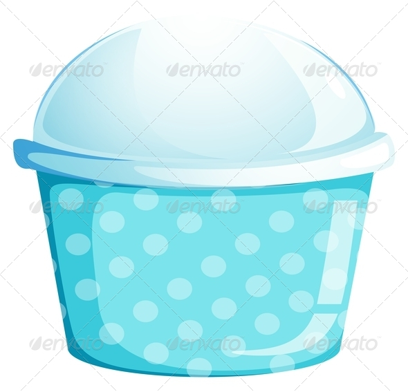 GraphicRiver A blue cupcake container 7844467