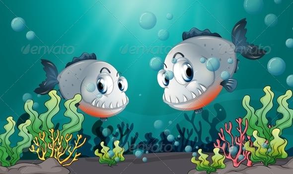 GraphicRiver Fishes Under the Sea 7844483