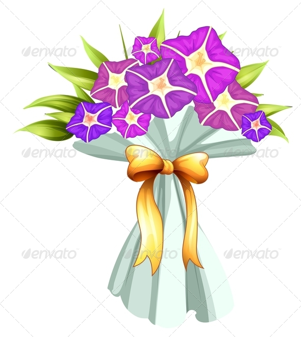 GraphicRiver A boquet of violet flowers 7844488