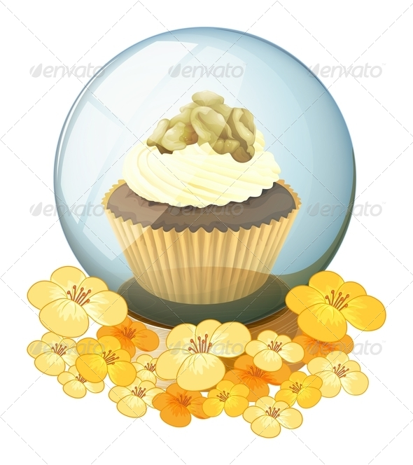 GraphicRiver A crystal ball with a cake 7844497