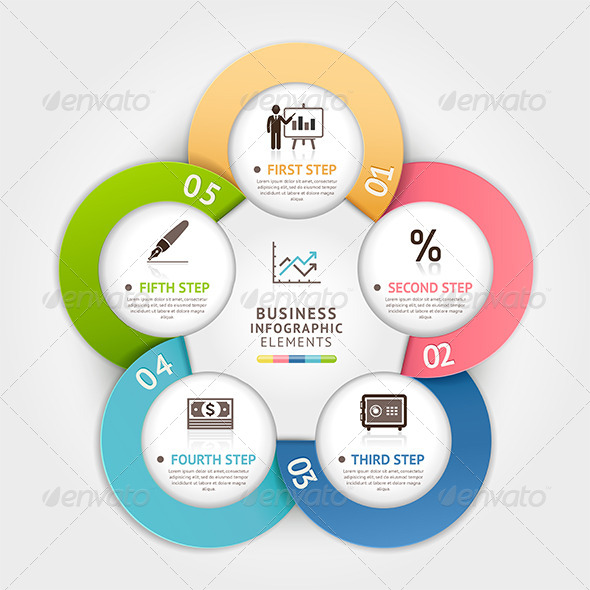 GraphicRiver Modern Business Circle Infographic Template 7844510