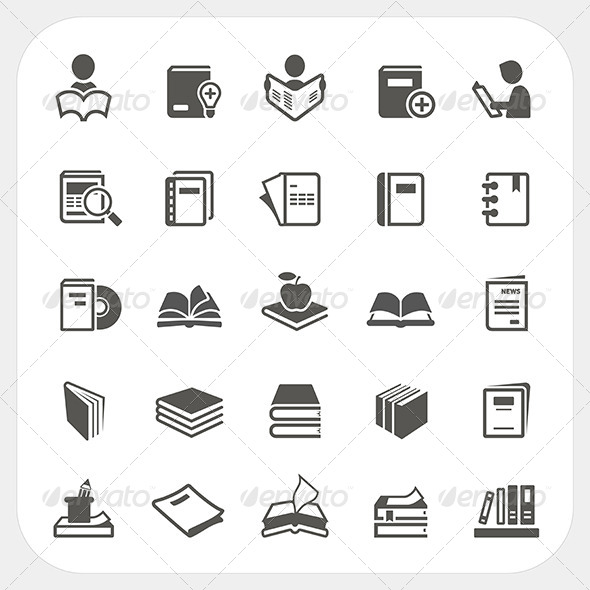 GraphicRiver Book Icons Set 7844525