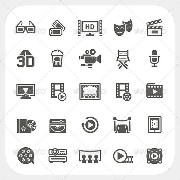 GraphicRiver Movie Icons Set 7844534