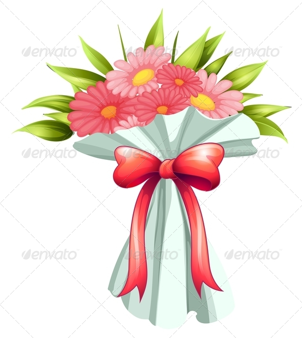GraphicRiver A boquet of pink flowers 7844583