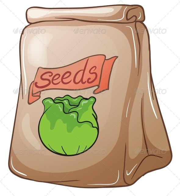 GraphicRiver Paper bag with seeds 7844587