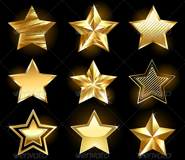 GraphicRiver Set of Gold Stars 7844593